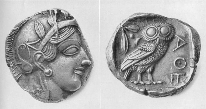 上图:古希腊银币Drachma,即路十五8妇人所丢失的一块钱,相当于一天的工资。