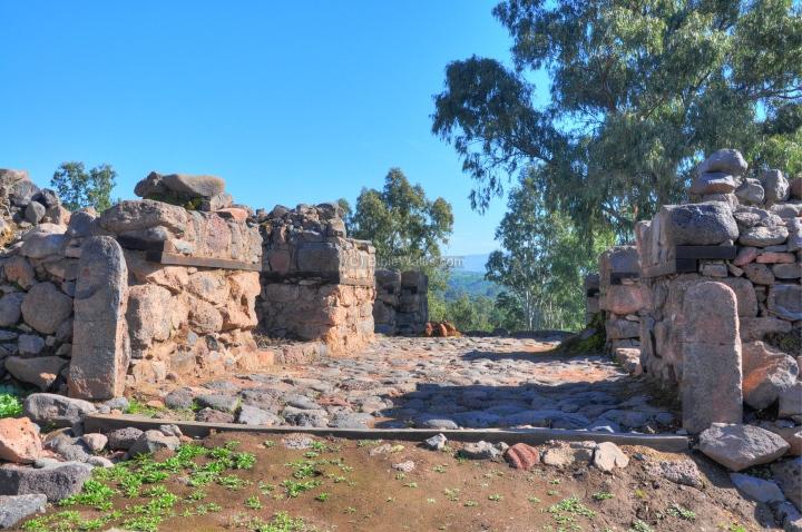上图:伯赛大遗址的城门。