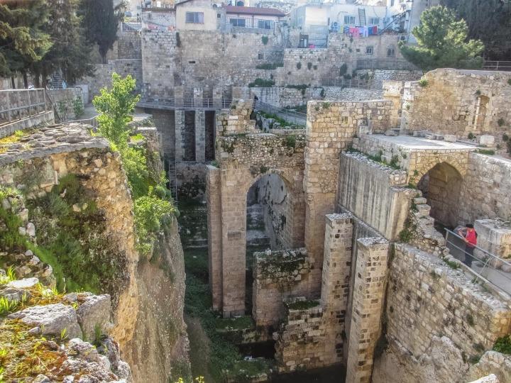 上图:耶路撒冷的毕士大池遗址。