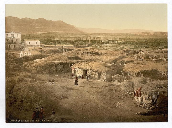 上图:1890年拍摄的耶利哥。现藏于美国国会图书馆。