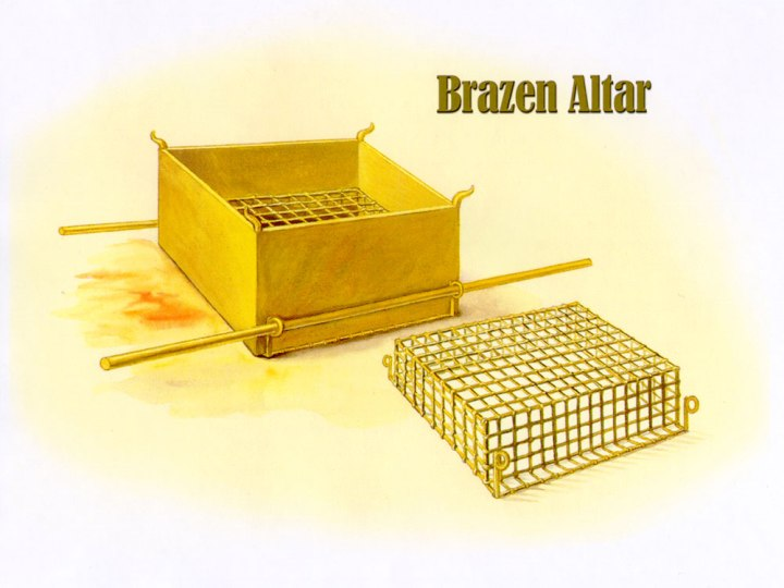 上图:铜祭坛和铜网示意图。
