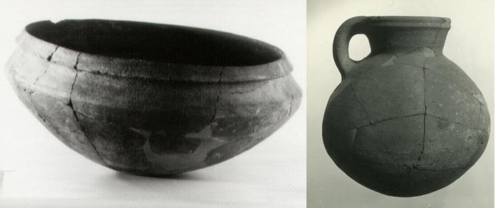 上图:主前11世纪以色列人煮食物的瓦器,现藏于以色列博物馆。