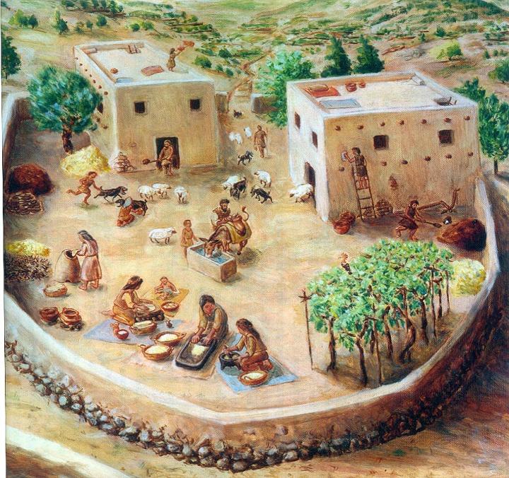 上图:以色列人的家族大院,被称为「父亲的家室」(Bet Ab)。Bet Ab由同一家族的一些房子和一个公共空间组成,每个房子居住着一个家庭。每个家庭有自己的土地,但所有的家庭听从同一个大家长。Bet Ab是古代以色列社会的基础单元,可能几代同堂,居住着家长夫妻、儿子、儿媳、孙子、孙媳、未婚子女、奴仆、雇工、寄居的客人、寡妇、孤儿。其中雇工、寄居的客人属于「外人」。主耶稣说:「在我父的家里有许多住处;若是没有,我就早已告诉你们了。我去原是为你们预备地方去」(约十四2),意思就是把教会聘为新娘,然后要回到「父亲的家室」去准备建造新的房子,迎娶新娘。