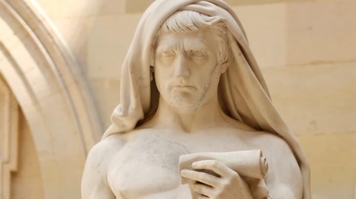 上图:小加图(Marcus Porcius Cato Uticensis,主前95-46年)是罗马共和国的政治家和演说家,在但丁的《神曲》被描绘成炼狱山的守护者。他与妻子玛西娅(Marcia)离婚,然后Marcia改嫁给60岁的朋友霍坦修(Quintus Hortensius)作续弦。6年后,玛西娅作为寡妇继承了霍坦修的财产,并回到小加图身边,两人变得极为富有。「好宴乐的寡妇」(提前五6),可能就是指这种继承了大量财产的寡妇。
