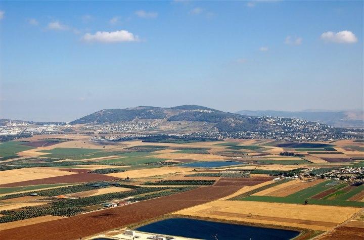 上图:以色列耶斯列平原的丰收景象。