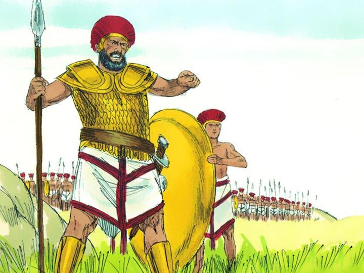 上图:歌利亚盔甲的可能样式。