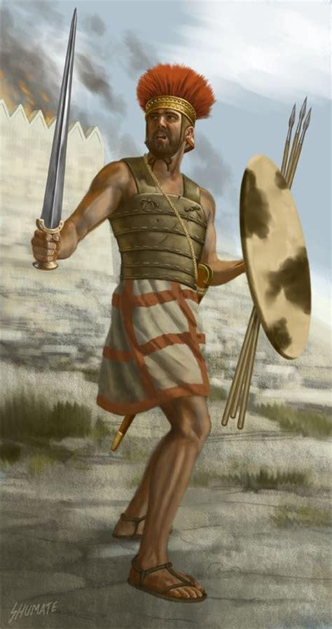 上图:非利士战士的形象。