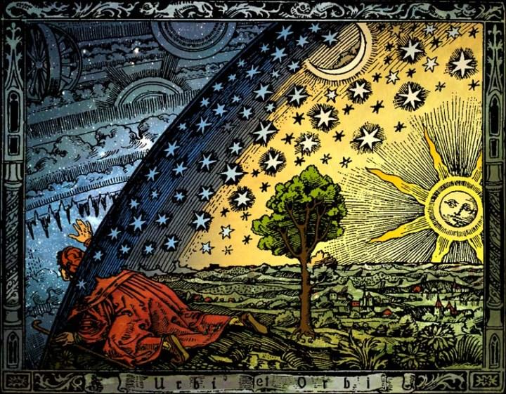 上图:「诺斯底主义 Gnosticism」对灵界的探知(1888年法国弗拉马里翁Flammarion的版画)。希腊文「诺斯 Gnosis」的意思是「知识」,诺斯底主义者持二元论,认为属灵的世界是圣洁的、物质的世界是邪恶的,人只能透过某种神秘知识而得救。诺斯底主义导致了两种极端的倾向:一种是禁欲主义,认为物质的身体毫无价值,所以应该克制己身;一种是放荡主义,认为既然灵性超越了肉体,所以放纵情欲并不影响灵性。诺斯底主义在主后1-3世纪影响了许多宗教,如摩尼教;也渗入早期教会,是教会最早的异端之一,《犹大福音》就是诺斯底主义异端的作品。这种异端认为: 1、既然物质世界是败坏的,那么圣洁的至高神就不可能与物质世界扯上关系。因此,诺斯底主义者发明了各种理论来否定主耶稣的道成肉身。 2、既然物质世界是邪恶的,那么创造天地的耶和华神必定是劣等的恶神,而不是至高的善神。因此,凡是被耶和华神看为恶的人,都成了英雄,如:伊甸园的蛇、该隐、所多玛、蛾摩拉、犹大等;凡是被耶和华神看为善的事,都应该反对,如:婚姻、律法等。 现代诺斯底主义流行于新纪元运动(New Age Movement)中,《达芬奇密码》就是以诺斯底主义为基础的小说。