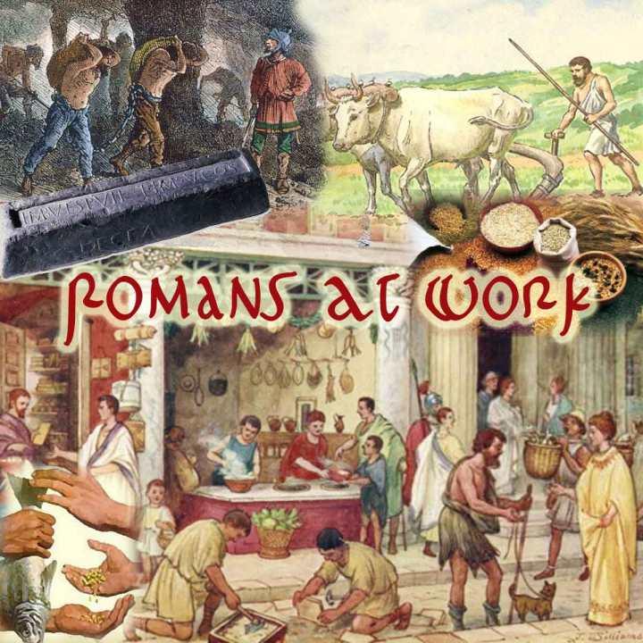 上图:古罗马人除了农业之外,在罗马城市里还有各种工作可做。古罗马的商店包括:烘烤店、理发店、书店、肉店、鞋店、鱼店、食品店、家具店、橄榄油店、香水制造商、酒馆、放债人等。许多店主都是奴隶或前奴隶,在罗马世界,由奴隶从事体力劳动。古罗马诗歌Martial (4.8.1-6)指出,古罗马人的一个工作日从黎明开始,前两个小时是问候仪式(Salutatio),在第7小时之后结束工作,前往浴室或锻炼,晚餐大约是现代的6点。