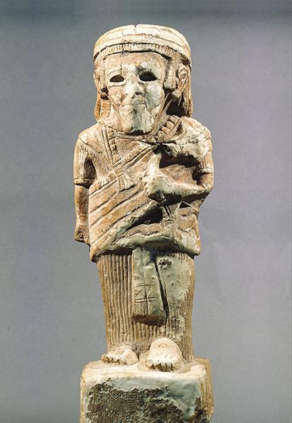 上图:主前8世纪的亚扪王Yerah Azar的雕像。