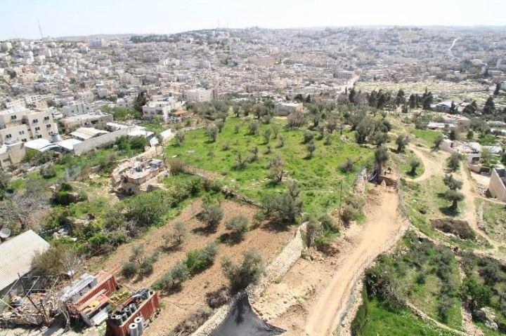 上图:希伯仑古城遗址。