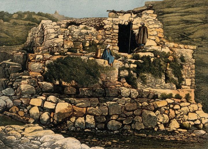 上图:19世纪隐·罗结的井。