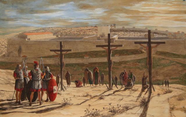 上图:「这十字架,就我而论,世界已经钉在十字架上;就世界而论,我已经钉在十字架上」(加六14)。