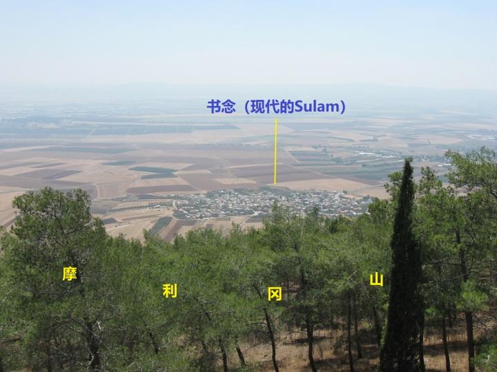 上图:从摩利冈山俯瞰书念(现代的Sulam)。