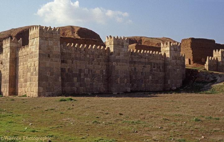 上图:尼尼微遗址重建的城墙。主前612年,尼尼微被巴比伦攻陷,从此成为废墟,湮没在历史长河中。人们只在历史传说中知道亚述帝国的辉煌,但找不到任何存在的证据,许多人因此怀疑圣经的真实性。1843年,法国考古学家保罗-埃米尔·博塔发现了一座王宫的遗迹,后来被证实就是尼尼微,出土了大量文物。